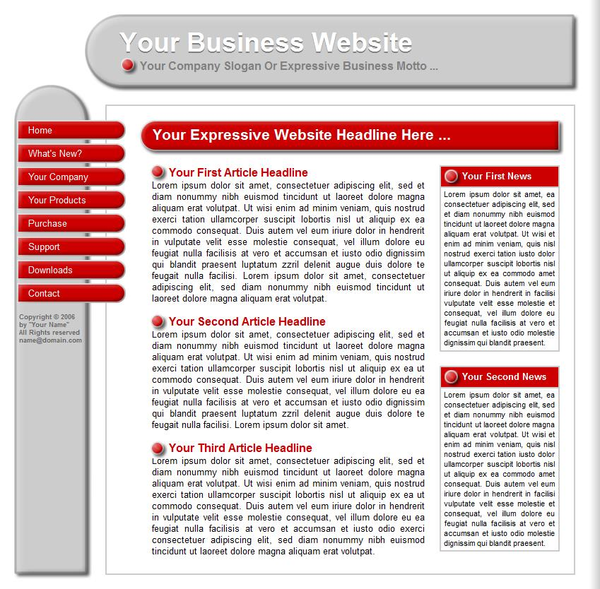Template 19 is a sample that can be changed to give you an idea to get started building a website at Build Websites Cheap.