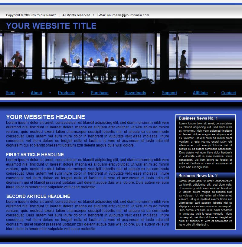 Template 43 is a sample that can be changed to give you an idea to get started building a website at Build Websites Cheap.
