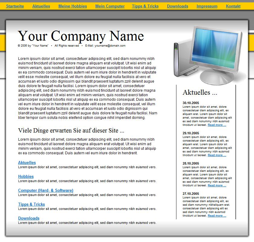 Template 87 is a sample that can be changed to give you an idea to get started building a website at Build Websites Cheap.